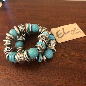 NWT Erica Lyons set of two stretch bracelets